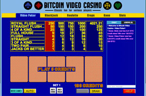 video poker at Bitcoin Video Casino