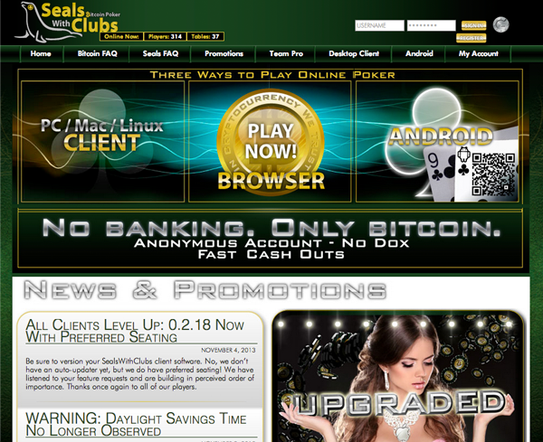 Seals with Clubs Homepage