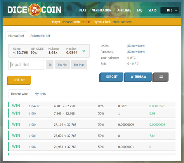 dice-coin-main-page