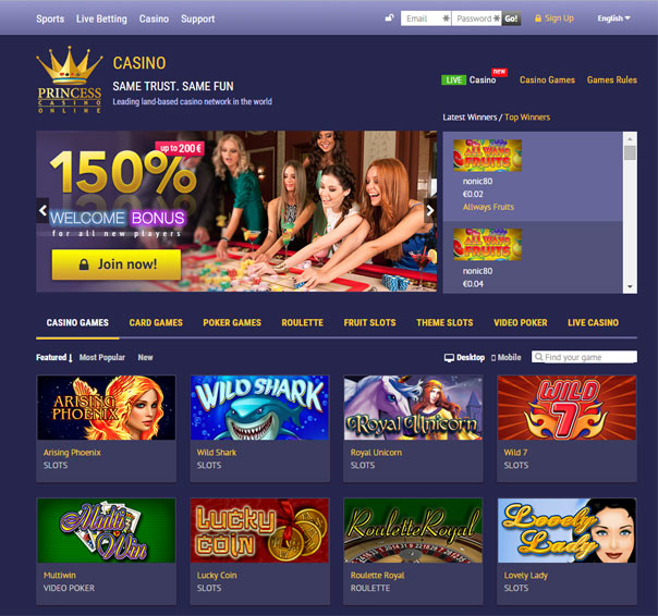 princess star casino bonus code