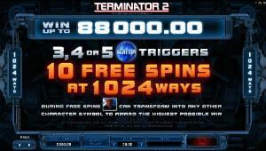 Terminator 2 Paytable