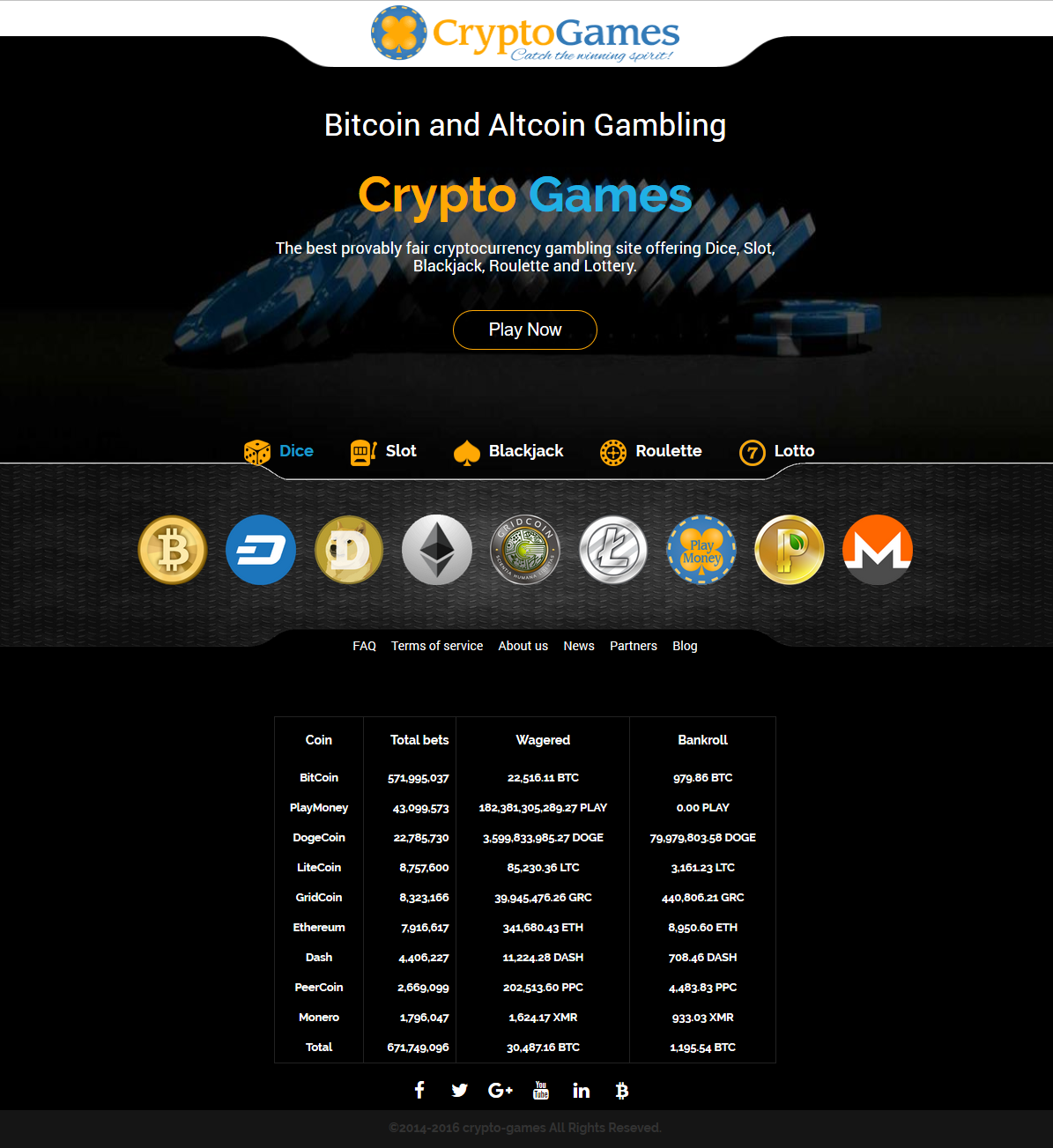 Crypto Games Home Page