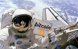 Bitcoin and Space Travel Lead Startup Investment Into the Future