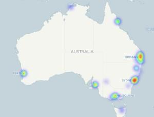 Australia on coinmap