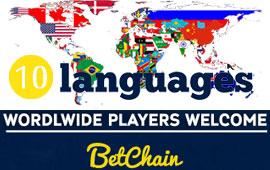 BetChain Bitcoin Casino Integrates 10th Language
