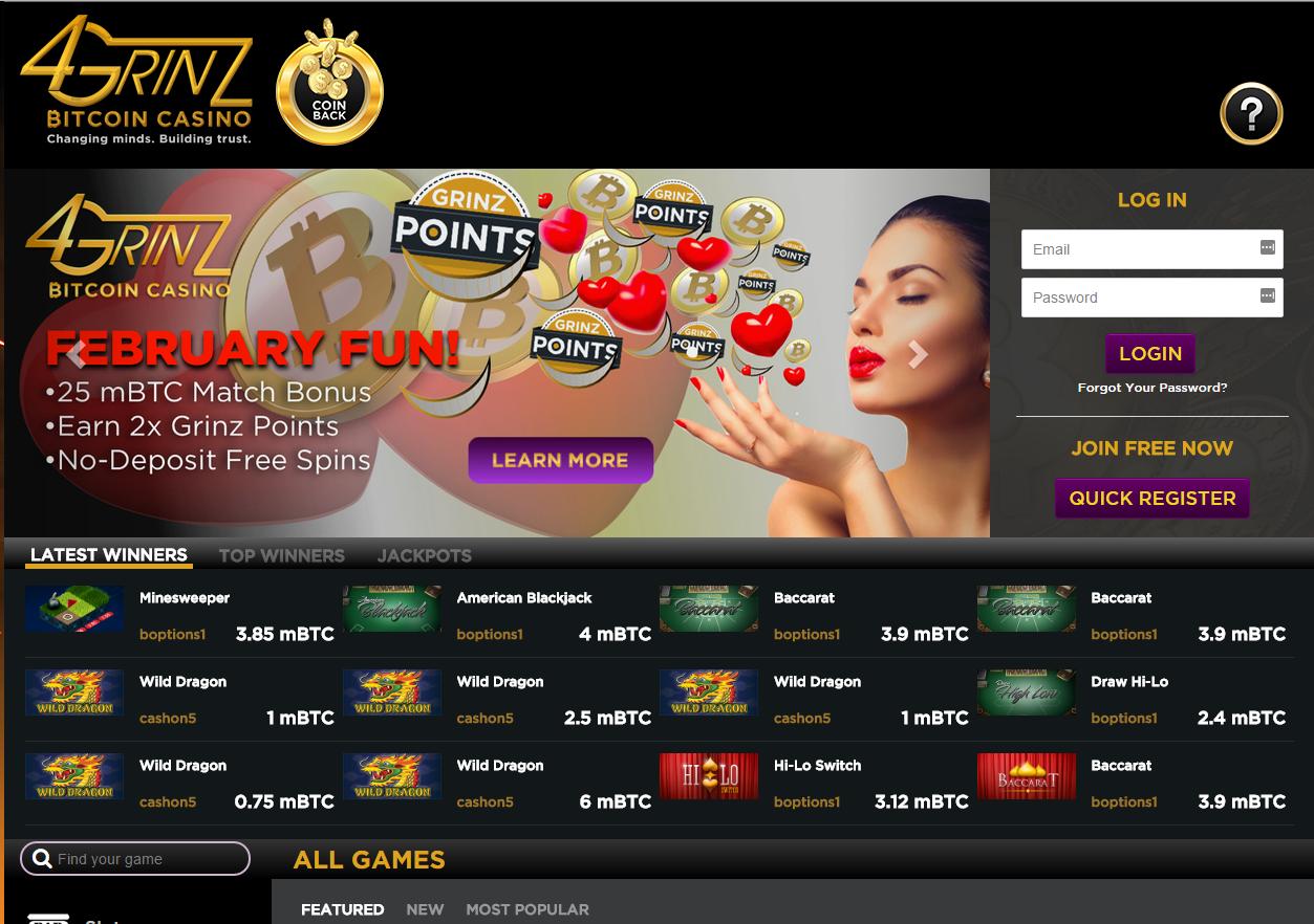 4grinz Casino home
