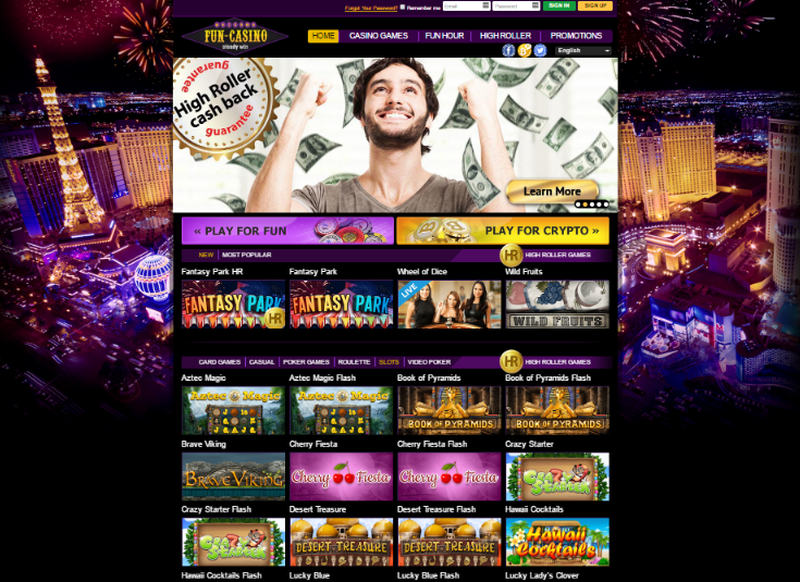Fun Casino Homepage