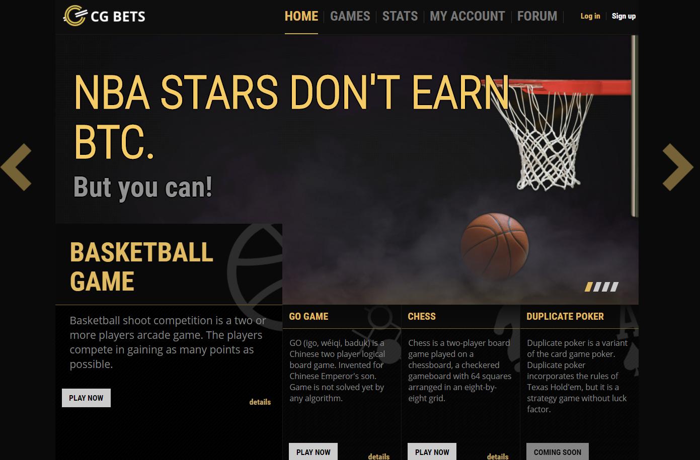 CGBets homepage