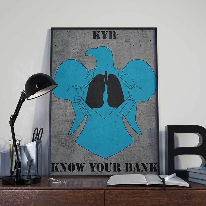 KYB Know your bank art