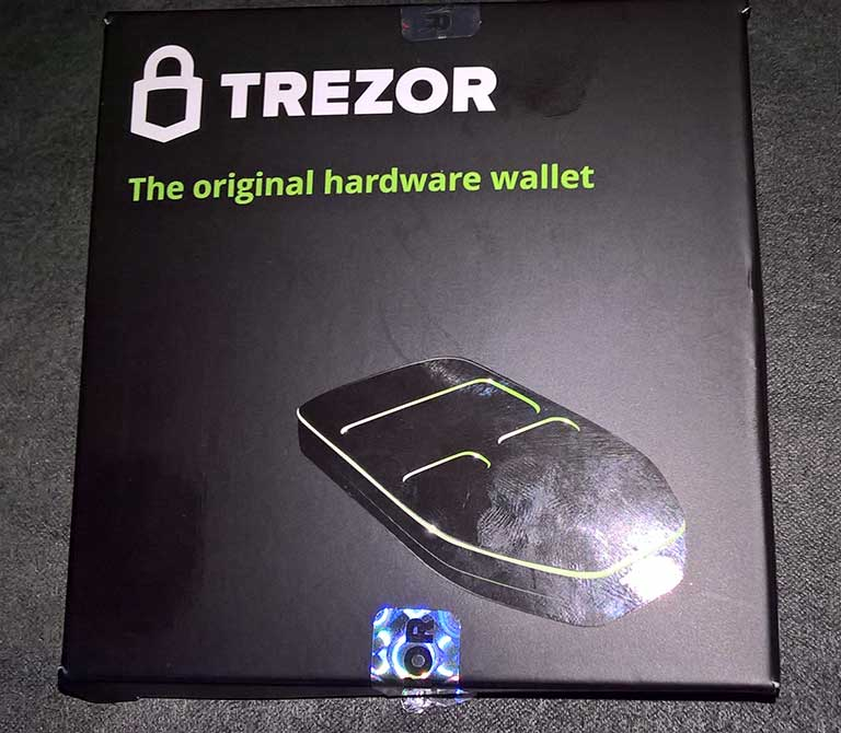 Trezor box sealed
