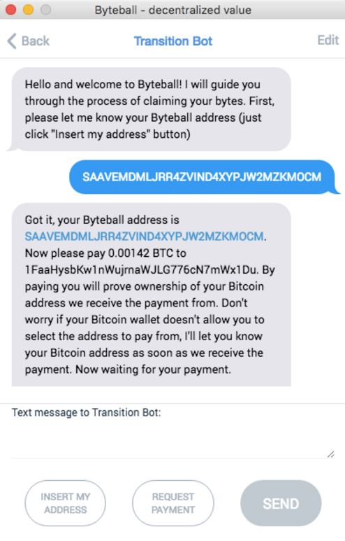 Byteball Transition Bot