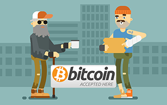 Bitcoin Homeless Man Makes $800 In 4 Days