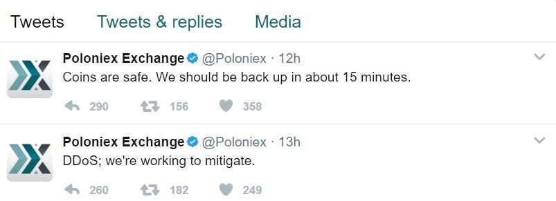 Poloniex DDoS Attack Confirmation