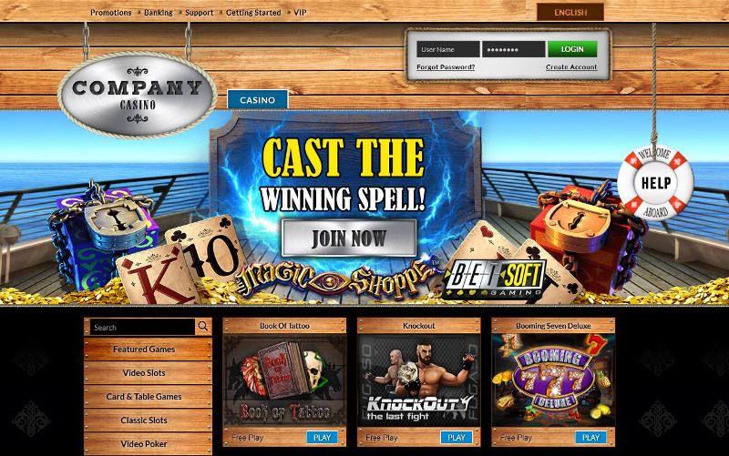 Company Casino Review Homepage