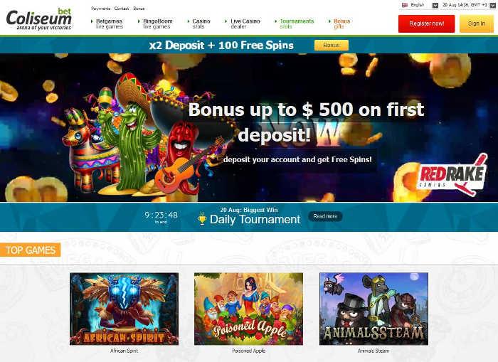 coliseum bet casino review