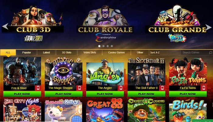 club vegas 999 casino games