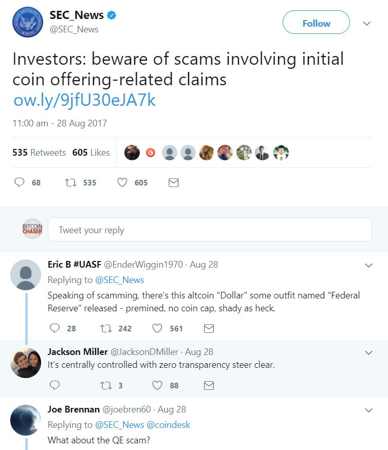 SEC Warning About ICO Scams